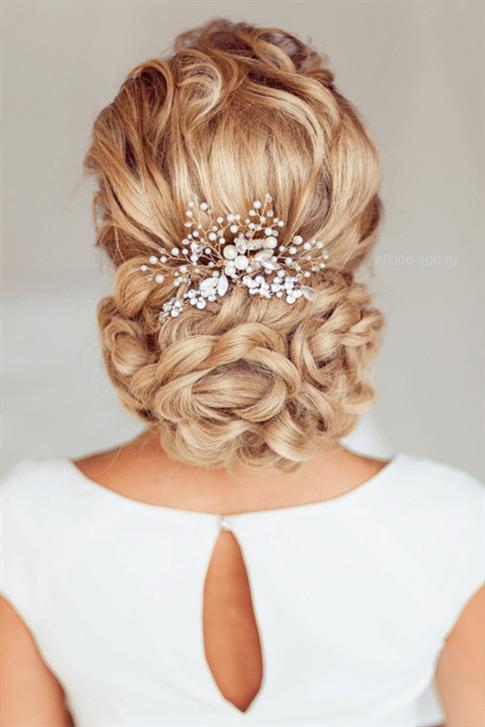 Brautfrisuren Mit Blumen Halboffen