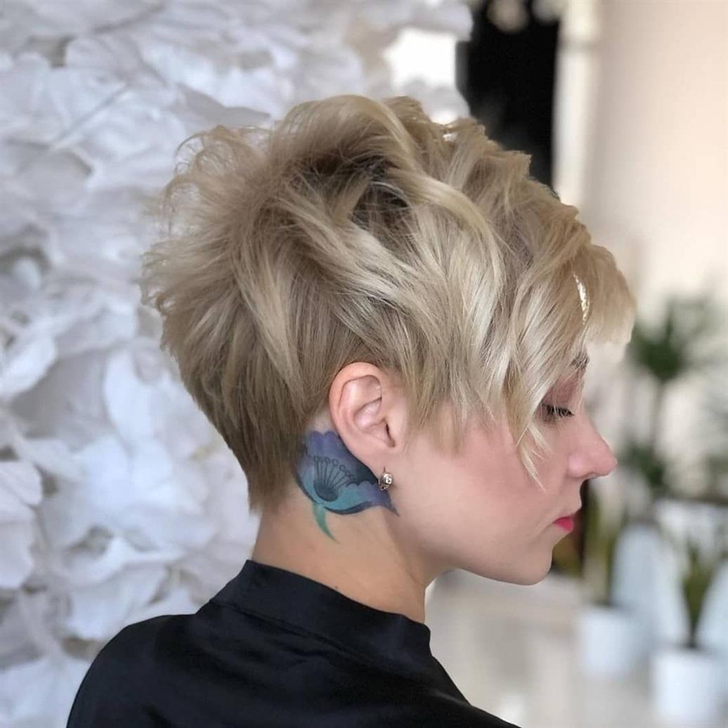 Kurze Frisuren Frauen Blond  Die Hinterschneidung ist bei kurzen Haarschnitten für Frauen sehr beliebt. Und es hat sich an eine breite Palette von Optionen angepasst, die sich in extremen Stufen unterscheiden.  Ihr Haartyp kann auch eine wichtige Rolle bei der Art des kurzen Haarschnitts spielen, den Sie erwerben sollten.