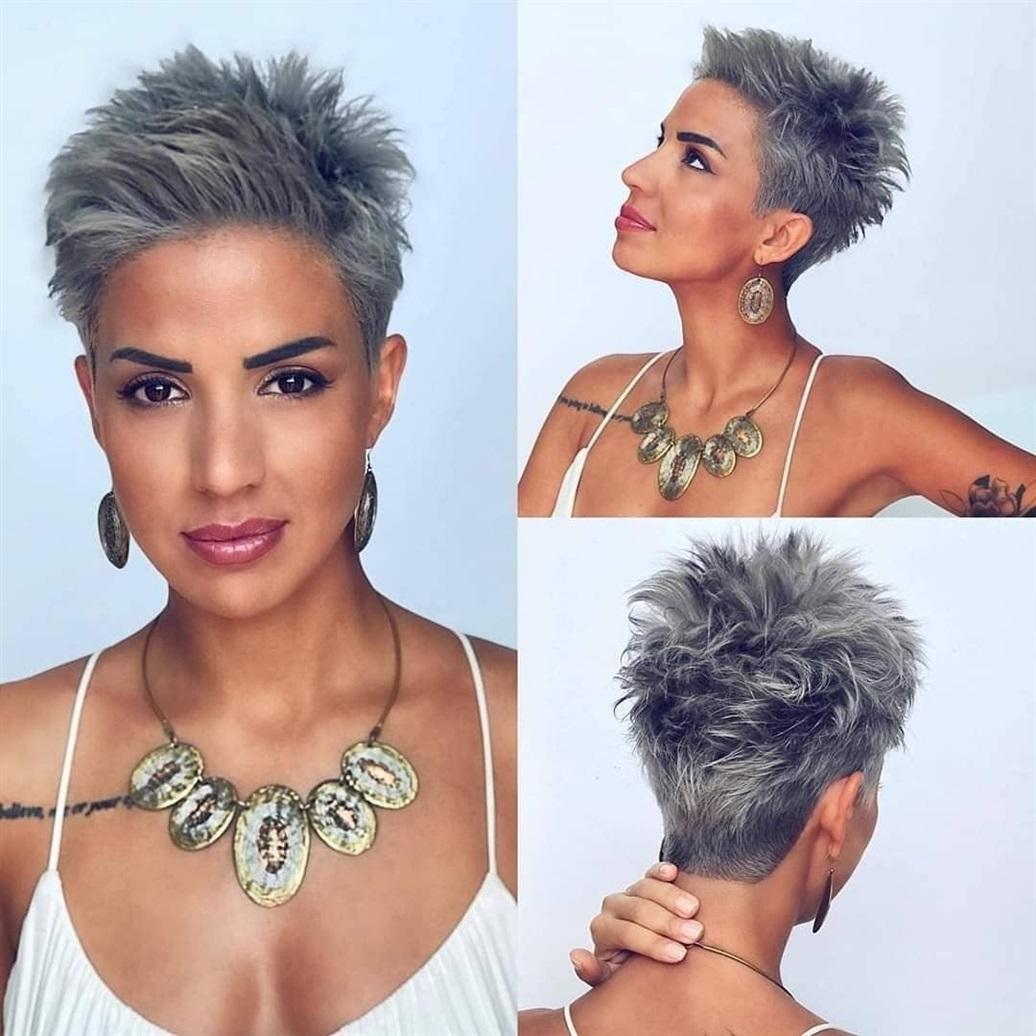 Kurze Frisuren Frauen Grau Kurze Schichten sorgen für mehr Textur und Bewegung, während längere Schichten die Fülle erzeugen, die Sie auf diesem Bild sehen können. Und wenn solche Schönheit mit Wellen gepaart wird, ist nichts attraktiver als dieser voluminöse Look.