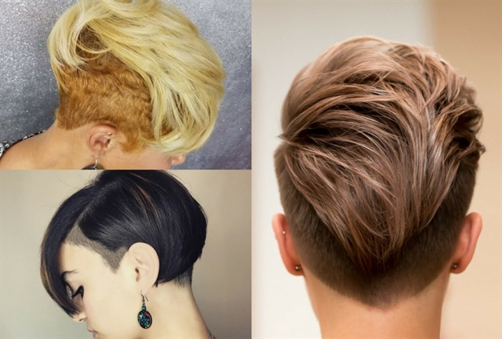 Short Hairstyles For Thin and Short Sides and Back  The bouffant and pointed ends look cheeky and add a nice structure to the hairstyle. By the way, the dark hairline in blonde hair again shows a stylish and certain look. What are you waiting for to make a new style.