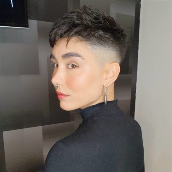 Undercut Pixie Hairstyles 2020  This hairstyle is designed for those who want to differ. The sides are as short as possible and the tops are dry and natural.