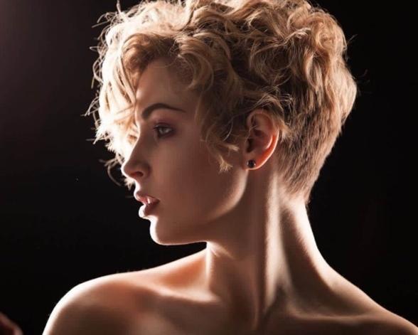 Undercut Short Curly Pixie Hairstyles