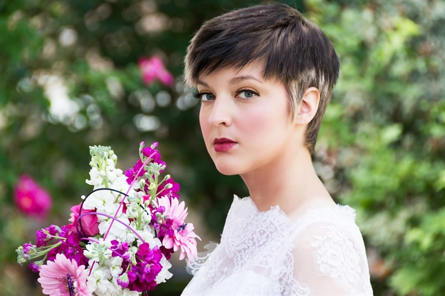 Wedding Hairstyles Different Very Short Hairstyles  Short cut hair naturally gives a stylish look to its own look. Light tones can be used on the edges of the hair to revitalize it a little.