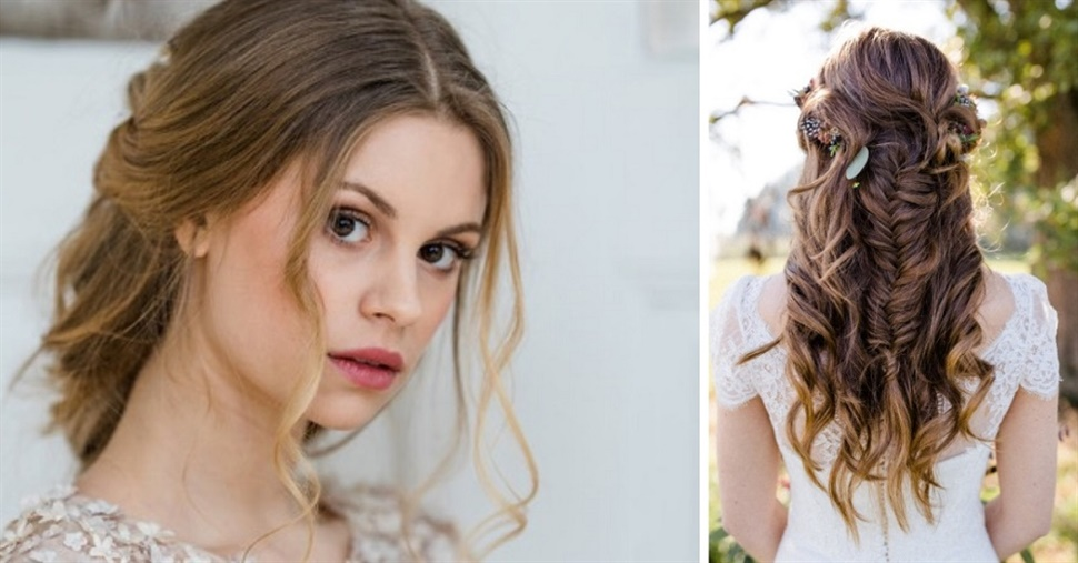 Wedding Hairstyles Front Tressed and Back Side Braided