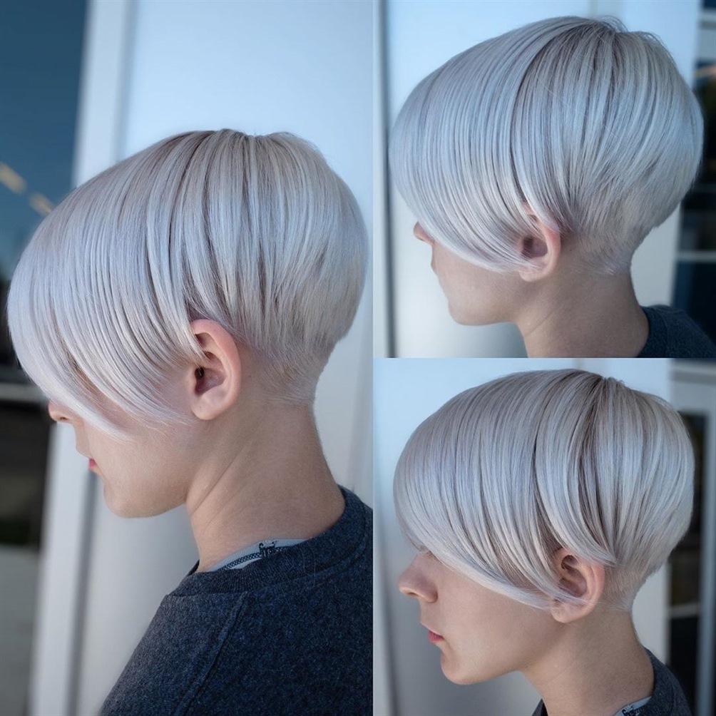 Asymmetrisch Kurze Haarschnitte fur Winter Damen  Sie können Ihre Haare in Ihrem Friseur asymmetrisch schneiden und für perfekte Frisuren sorgen. Neue Idee für Sie.
