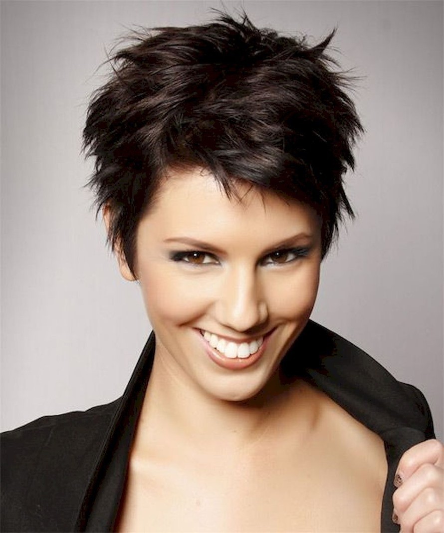 Best Short Hairstyles for Thick Hair  If you don't want to deal with your hair too much, let it go. Wouldn't you like to look natural? Put some styling on your hair and leave it messy.