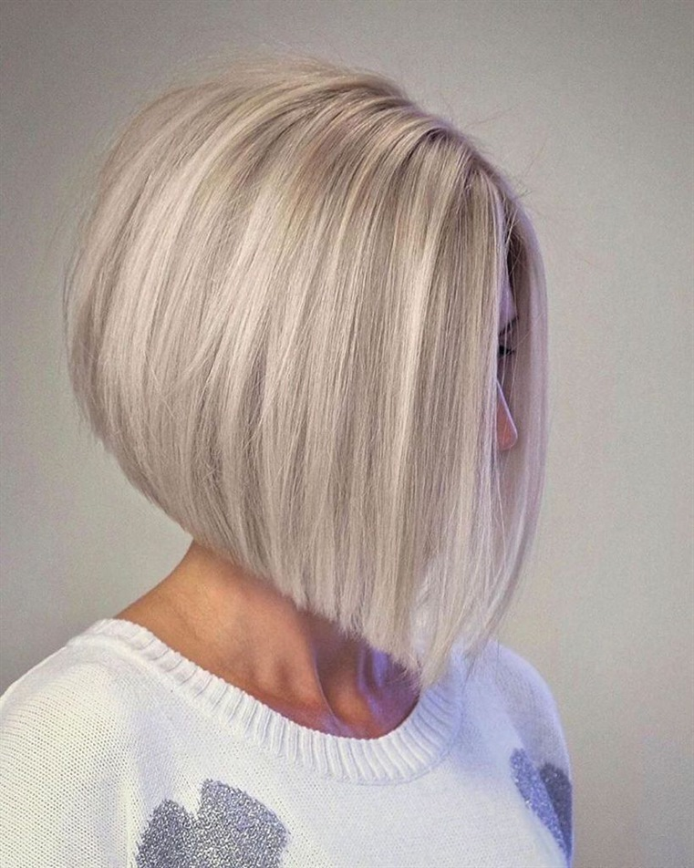 Medium Length Hairstyles Platin and Bob Cut Platinum color is very trendy in recent years. Moreover, they became a great duo with bob cut hairstyles. Try your hair by having a bob cut.