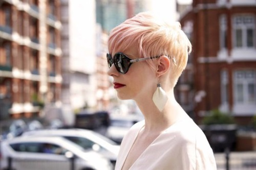 Short Hairstyles 2020 Punk Pink  The punk model never ends. For this model that looks very beautiful, accompany your blonde hair with pink dye. You will feel that difference and courage.