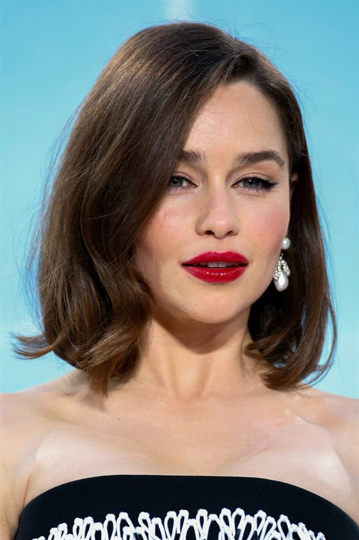 Bob Hairstyles 2020 Emilia Clark  Square, long, medium-long or short, perfect hairstyle with Emilia Clark for every day in fall