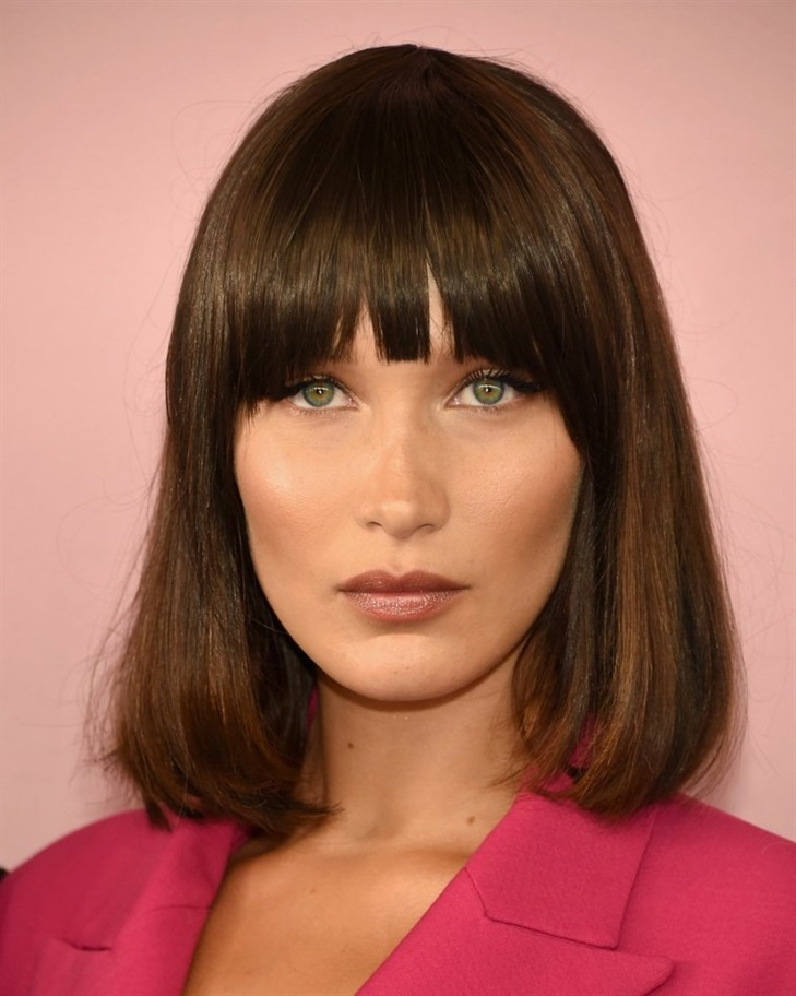 Bob Hairstyles 2020 with Fringe  A bob cut is an essential savior for medium length hair. You can also give this shape to your hair with a straight cut.