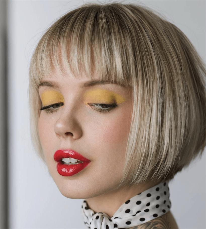 Bob Hairstyles with Bangs The short haired bob hairstyle 2020 can be graded asymmetrically with an extension close to the face, allowing you to adjust the look and hide any minor imbalances, if any.