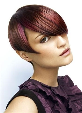 Short Haircut 2021 Asymmetric Ideas  Keep your hair at the forefront with red tones. Sharp lines will make your hair stand out.