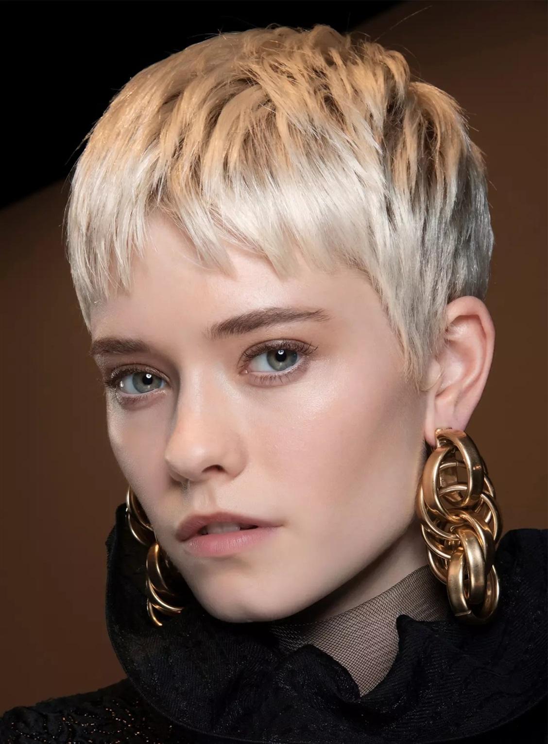 Kurzhaarfrisuren 2021 Blond Pixie