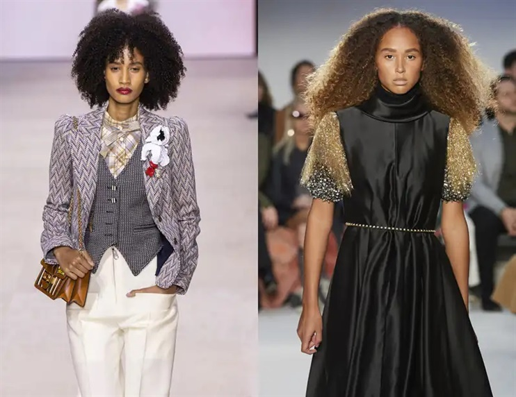 Long Hairstyles Curly If you have curls, then they should emerge this season, as seen on the catwalk of Louis Vuitton and JW Anderson, where natural texture was in focus - with and without bangs.