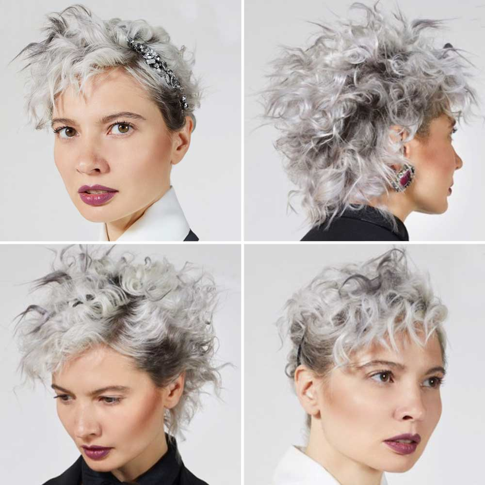 Curly Short Hairstyles Colours Platin