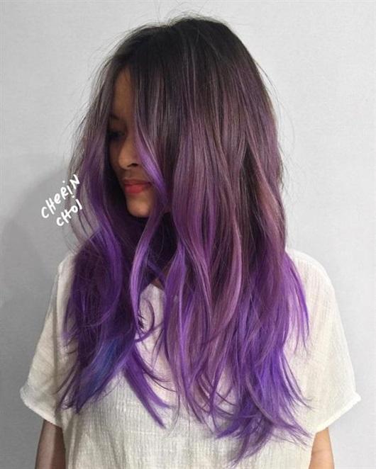 Hair Colour Ideas Deep Purple