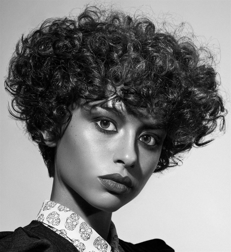 New Short Hair Style Curly  If you have curly hair, you can get a great look with such a model. Curls don't look good on long hair. So try the curly model for short hair.