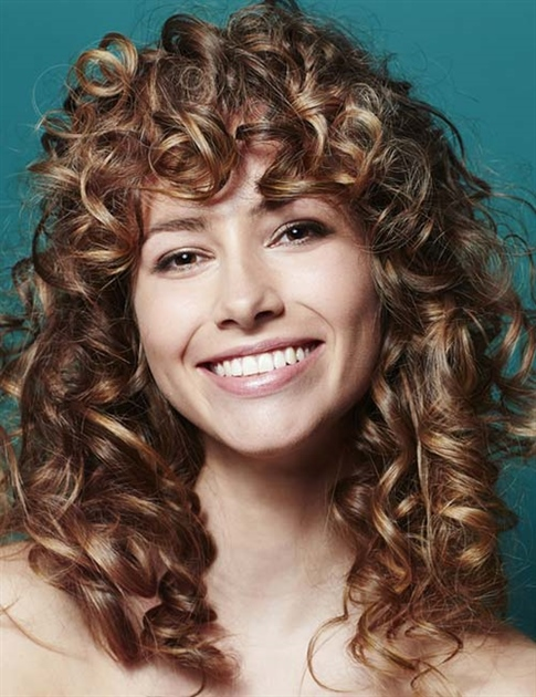 Shaggy Layers and Curls Bangs