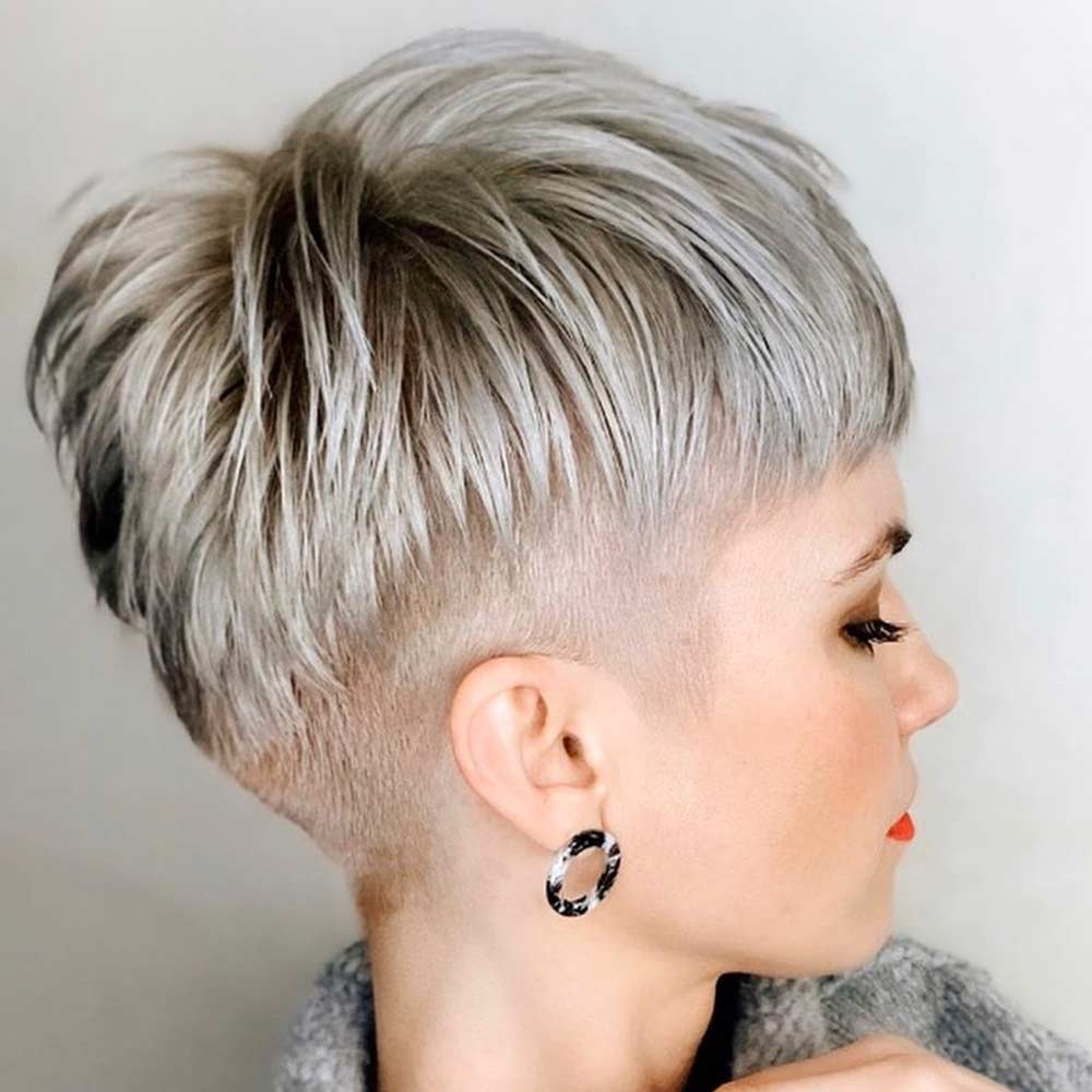 Shaved Short Hairstyles Colours