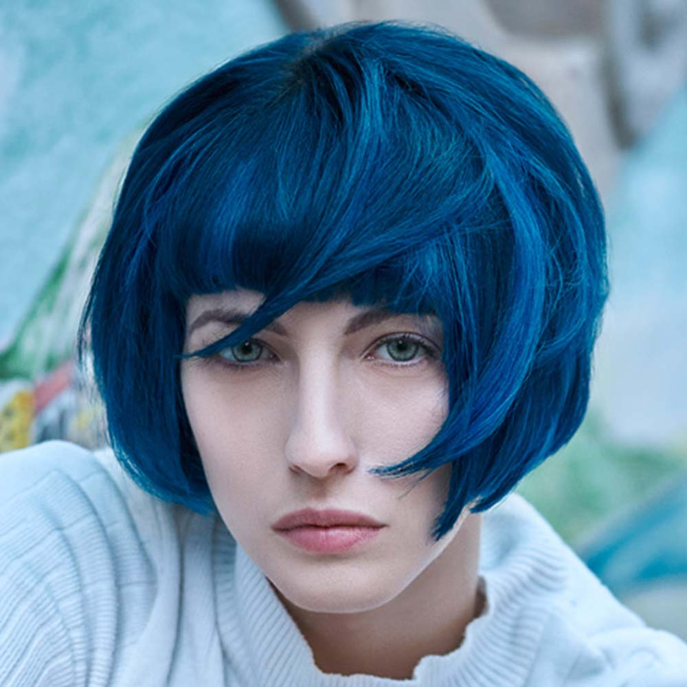Short Hairstyles Colours Blue
