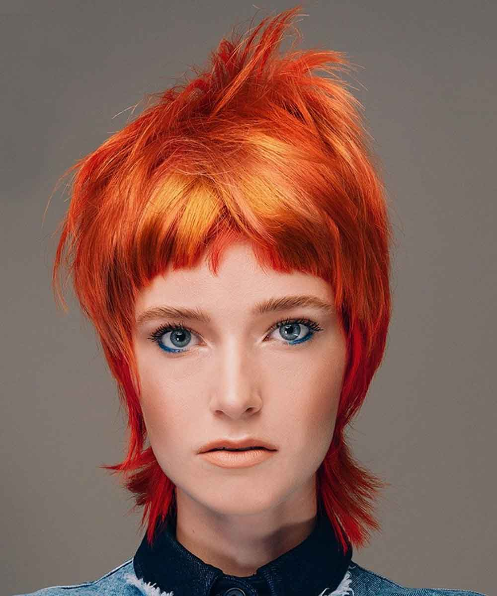 Short Hairstyles Colours Flame Red