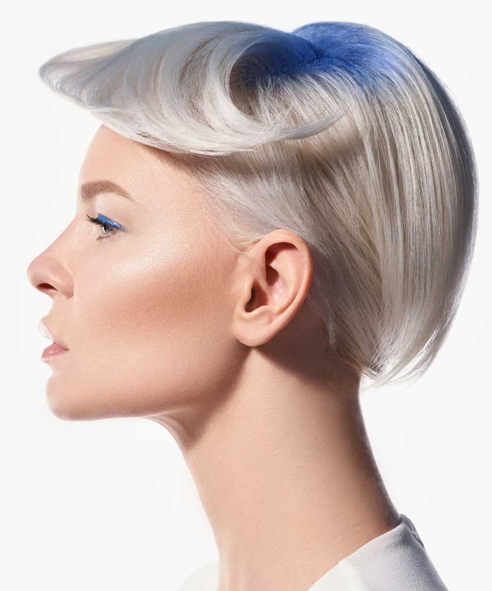 Short Hairstyles Colours Light Grey