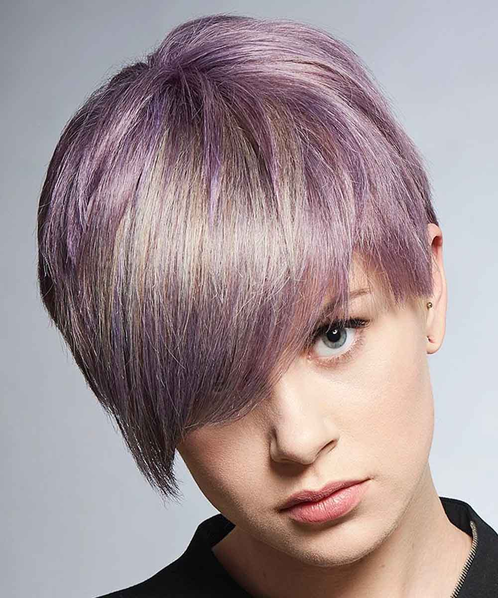 Short Hairstyles Colours Lila