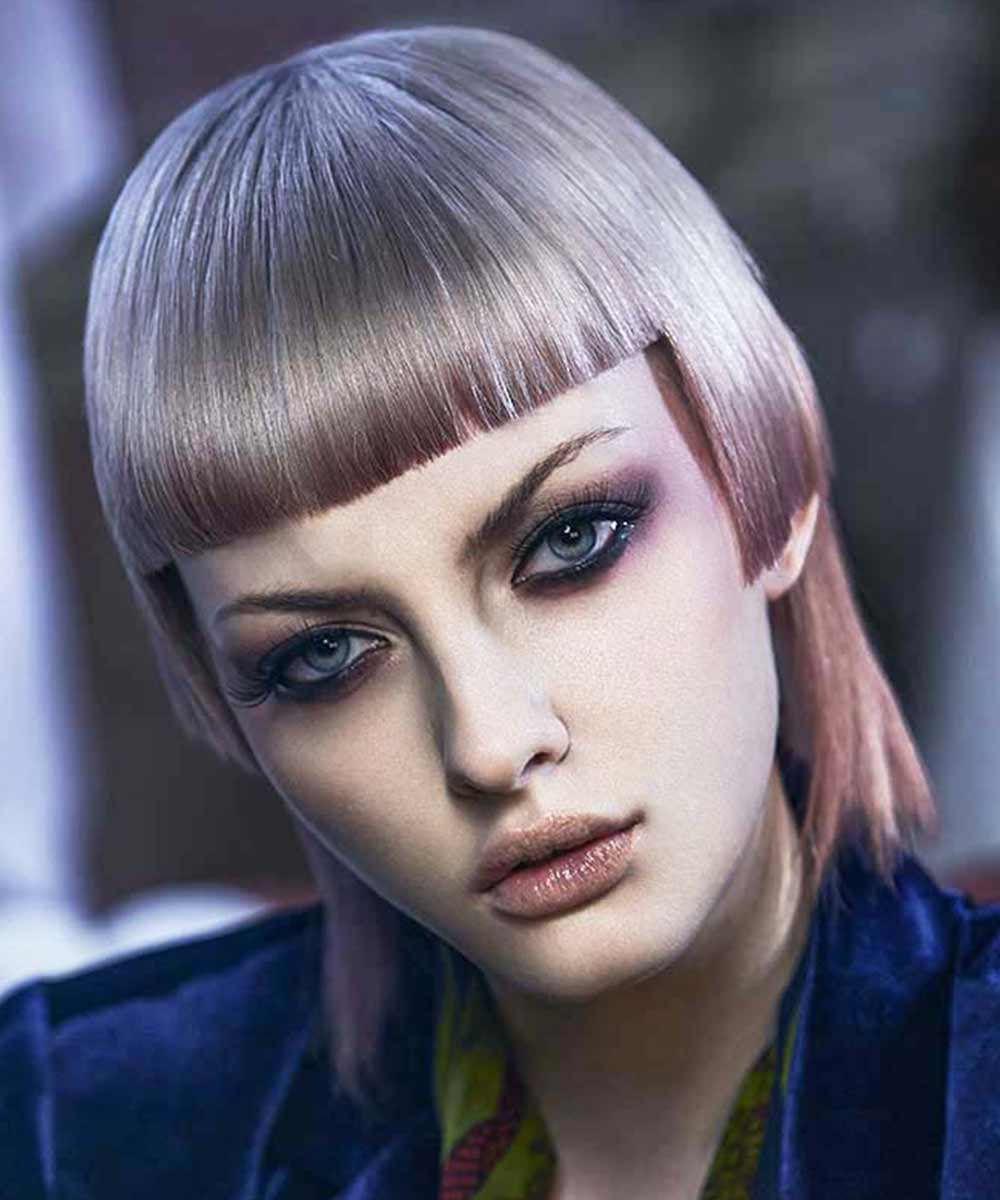 Short Hairstyles Colours with Bangs