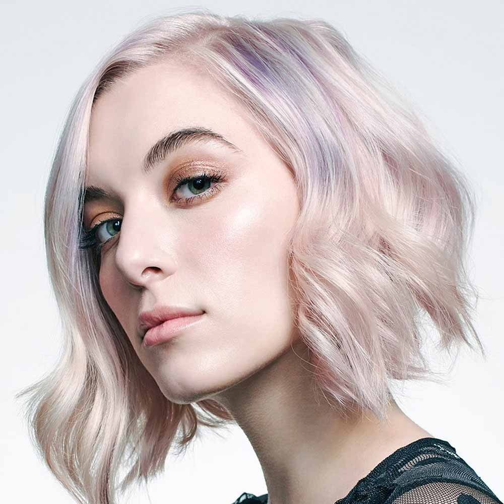 Wavy Short Hairstyles Colours Silver