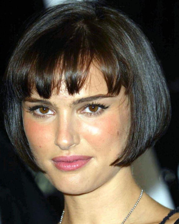 Schwarze Bob Frisuren Stylen Natalie Portman